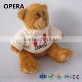 CE EN71 safe standard material white sweater golden teddy bear factory china