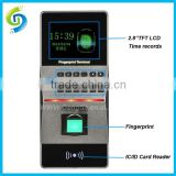 Professional fingerprint time keeping machine for office fingerprint time attendance with display