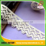 [NTSUNRISING]Lace factory 4CM white cotton lace trim Bohemia style for Dress/Garment/Underwear/cap/bag