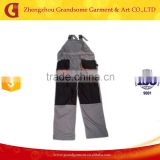 Europen style work bib pants with knee pad Chinese supplier