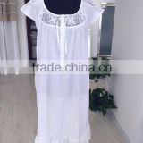 white cotton ladies nightgown nightwear sleepwear                                                                         Quality Choice