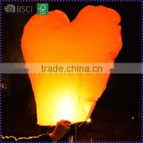 Hot Sale Fire Retardant Heart Shaped Sky Lanterns For Wedding