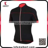 Black and red classic zip up cycling jersey OEM service