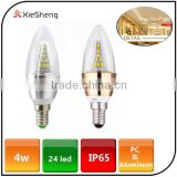 Super bright 4w led bulb light waterproof cool white warm white led candle lamp for living room hotel