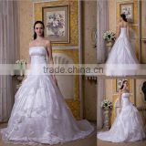 Ball Gown design Stomacher Design court train wedding dress XYY-100