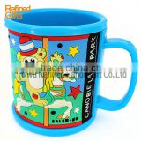 Menufacture China PVC rubber Coffee cup Mug Blue monkey Mugs Promotional Gift