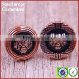 Wholesale tiger shape trouser bavarian lederhosen leather shoe buttons