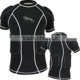 New and Fashionable Padded Compression Shirts for Rugby Football Wear American Football Sports
