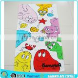 2015 HOT sell 100% cotton silk screen printing cartoon baby beach towel household baby bath towel