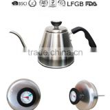 Gooseneck Coffee Kettle with Thermometer