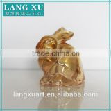 LX-D016 christmas ornamental glassware gifts cheap glass ornaments rabbit animal glass ornaments