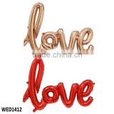 108*64cm Letter LOVE balloon Rose Gold Balloon Wedding Bridal Shower Decorations Engagement Party Decoration