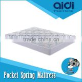 3D Mesh Fabric Sky Blue Independent Pocket Spring Single Dormitory Foam Mattress AC-1212