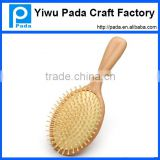 wood round hair brush with boar bristle,rotating hair brush,professional salon hair brush