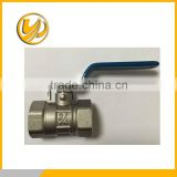 DN 25 Ball valve,full flow ,brass body ,iron ball ,iron stem female/female,flat lever handle