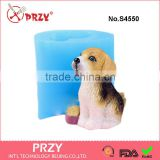 S4550 dog mold for soap/candle ,silicone dog mold,food grade silicone animal soap mold                                                                                                         Supplier's Choice
