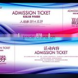 exclusive high-end thermal paper music event ticket printing