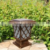 Outdoor Garden Solar Led Post Deck Cap Square Fence Light