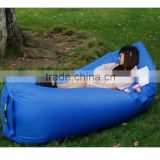outdoor inflatable lounger nylon fabric beach lounger convenient compression popular inflatable sleeping bag sofa couch bed