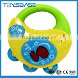 Battery operated baby musical toys,plastic wholesale tambourine