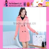 Wholesale Autumn Winter Slim Ladies Coat Top Quality Woolen Warm Korean Style Fashion Women Coat