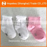 newborn white and pink color baby socks,Hot sale fancy cotton baby socks