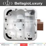 6 Persons balboa music system baignoire rectangular cheap freestanding whirlpool outdoor hot tub