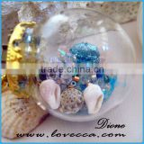 blown hollow glass beads,miniature clear glass bottle pendant,small glass dome tube -quartz