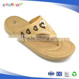 New funny China nude slippers flip flops lady low price with loving heart pattern on the strap sandals of factory