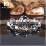 Wholesale high quality stainless steel north skull bracelet clasp