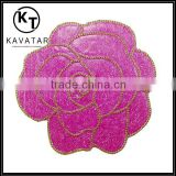 iron on diamond rose flower beaded for shawl dokoh patch Malaysia