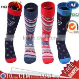 Sport Compression Crew Sock-Kids knee high Thciker Thermal Winter socks wholesale unisex