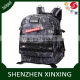Multi function outdoor camouflage 3D backpack, hiking travel rucksack, tactical military bag