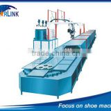 Wenzhou Starlink Hot Sale 19m 60 stations Production Line inject PU safety shoe sole machine