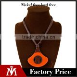 Fashion korean style acrylic pendant necklace women unique design rope charn jewelry
