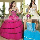 2013 new sweetheart appliqued beaded custom-made Quinceanera dresses fuschia ball gowns CWFab4369