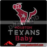 Popular Houston Bull Texans Baby T Shirt Transfer Rhinestone Patterns