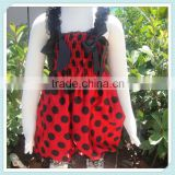 Latest Red Black Dots Ladybug Satin Baby Bubble Knicker for Infant Toddler Kids Short Jumpsuit Sleeveless Bubble Baby Romper