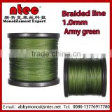 500m Braid Fishing Line 1.0mm 200LB Army Green Black