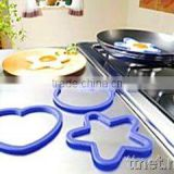 Heart & star shape 100% food grade Silicone Egg Fired Mold