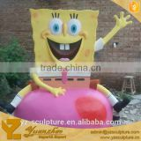 life size fiberglass SpongeBob statue for amusement park