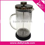 1000ml French Press, Heat Resistant Glass Stainless Steel Coffee Press Tea Maker Pot