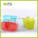 emc plastic baskets with hook, decorative plastic baskets with hook, wholesale plastic hanging storage baskets