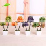 GNW GP012 Ornamental Mini Bonsai Tree Plants Plastic Grass and Flower balls Holiday Decking
