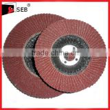 Abrasive cloth flap discs for metal polishing