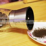 Premium Stainless Steel Salt and Pepper Ceramic Grinder Mill Set. High Strength Glass Body gold fruit spiral