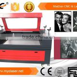 MC 1310 small laser machine with changable table for craft and bottle