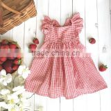 2017 new style Baby Clothes cheap wholesale Children's Boutique sleeveless summer baby girl red party dress