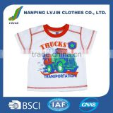 New Arrivals Fashion Design Baby Plain White T-shirt Customized Cotton Baby Clothes