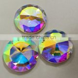 crystal AB glass Flat back no Hotfix crystal element brilliant round Flat back stone with two holes